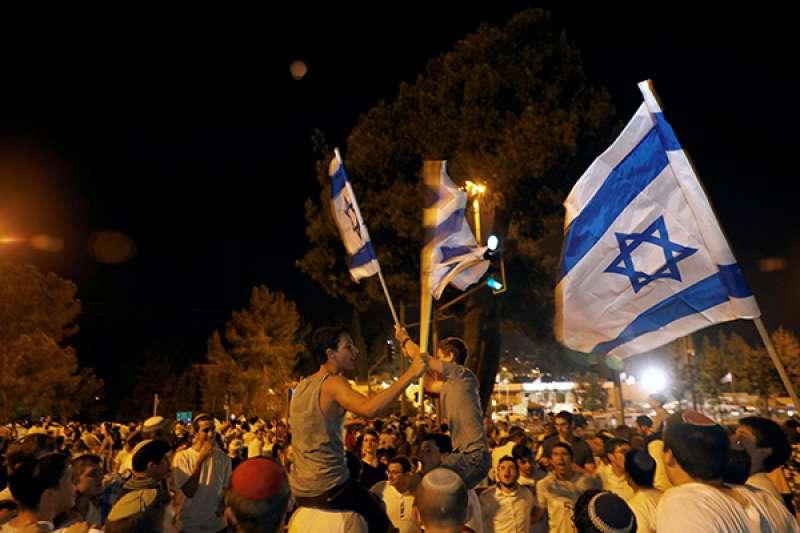 耶路撒冷,以色列民眾紀念獨立日,慶祝建國70周年。 (圖/取自視覺中國|澎湃新聞提供)