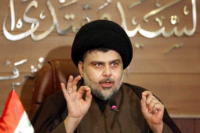 伊拉克12日舉行國會大選,伊拉克什葉派教士薩德爾領導的「向改革前進」聯盟異軍突起,可望主導選後組閣。(AP)
