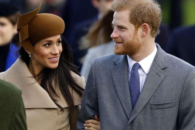 哈利王子19日即將與美國女星梅根.馬克爾,在溫莎城堡的聖喬治禮拜堂舉行婚禮。(AP)
