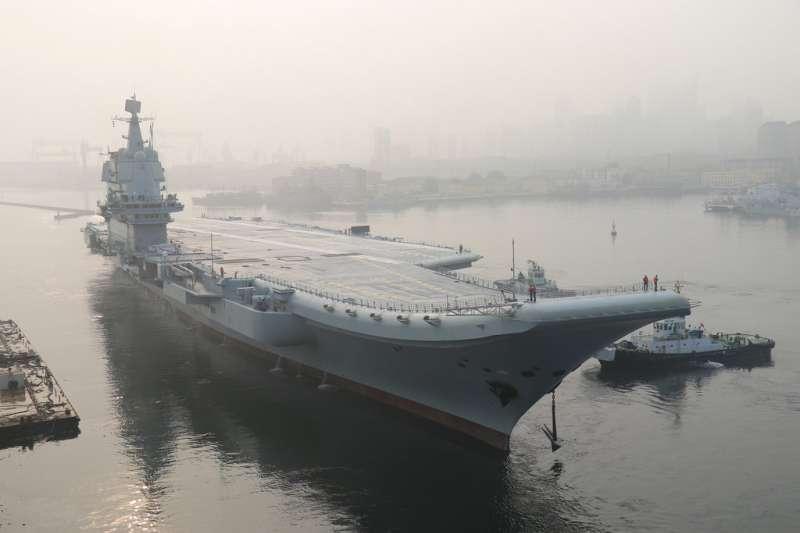 中國首艘國產航母。(美聯社)