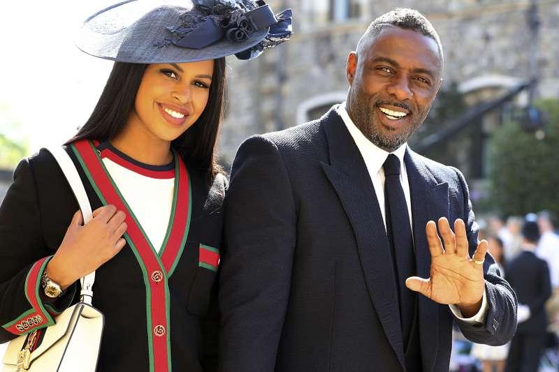 英國影星伊卓瑞斯艾巴也受邀參加王室婚禮。(美聯社)