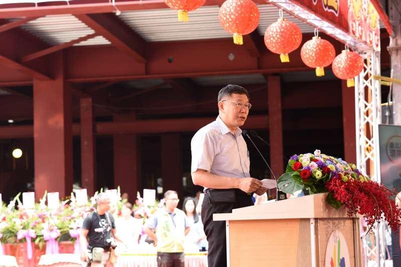 針對近日許多民調顯示國民黨台北市長參選人丁守中支持度略勝結果,台北市長柯文哲表示目前無特別想法,先做好每天該做的事。(台北市政府提供)