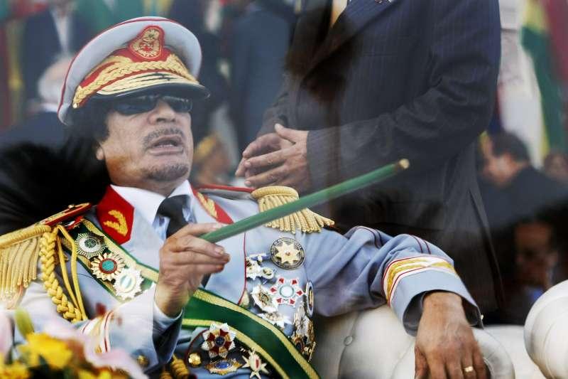 利比亞獨裁者格達費(Muammar Gaddafi)上校(AP)