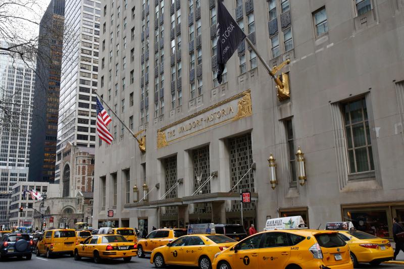 美國紐約華爾道夫飯店(AP)