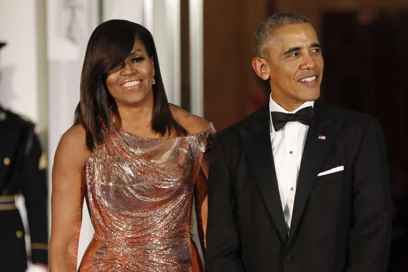 美國前總統歐巴馬與蜜雪兒夫婦(AP)