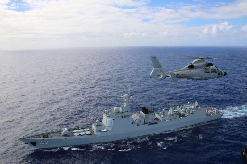 環太平洋聯合軍演:2016年參加演習的中國護衛艦衡水號(翻攝US Navy)