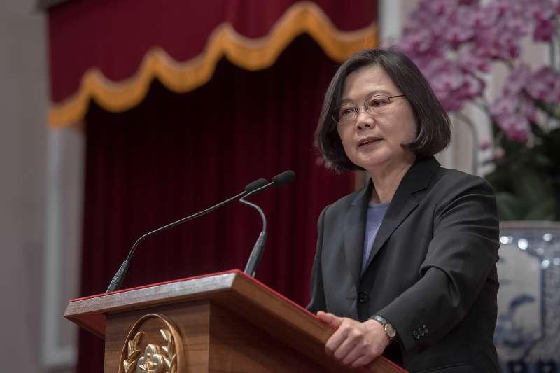 蔡英文總統25日下午表示,邦交國離開我們,當然是令人遺憾,但更令人感到遺憾的是,台灣內部沒有辦法團結。(總統府提供)