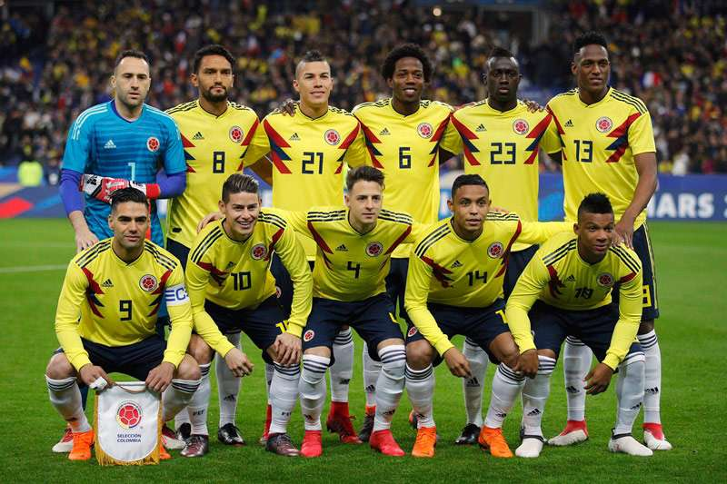 哥倫比亞國家代表隊,在上屆巴西世界盃締造8強最好的歷史成績,這屆期待再創佳績。(美聯社)