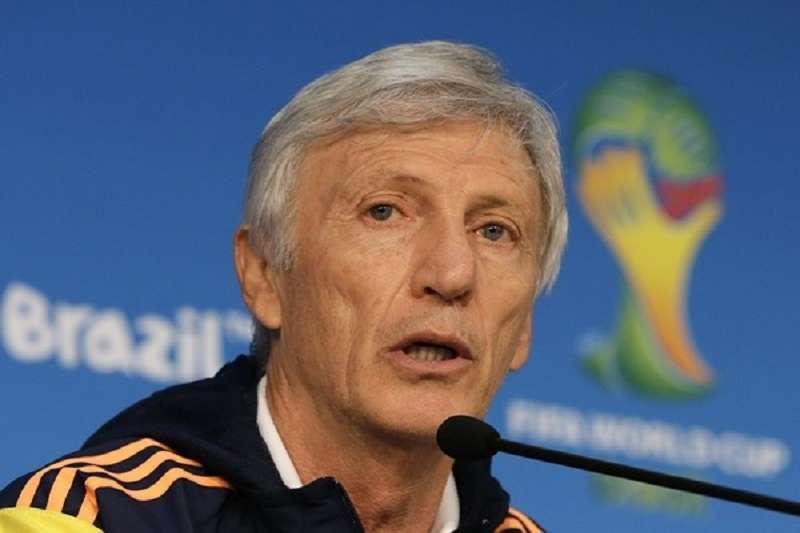 圖為哥倫比亞總教練佩克曼。(美聯社)