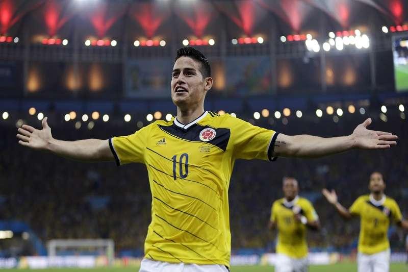 哥倫比亞「J羅」,上屆以6進球、2助攻拿下金靴獎,期待這次世界盃會把哥倫比亞帶到什麼高度。(美聯社)