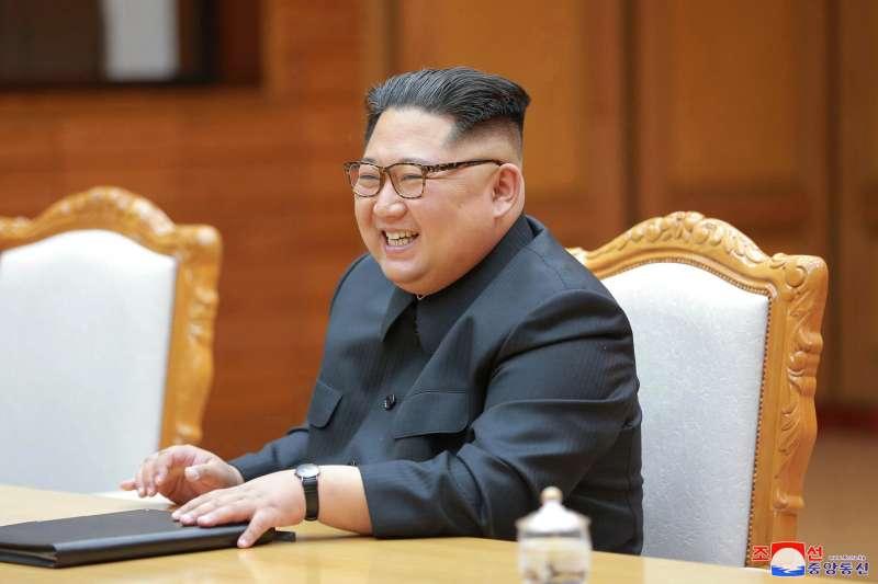 2018年5月26日,南韓總統文在寅前往板門店北韓方的統一閣,二度與北韓領導人金正恩進行會談(AP)