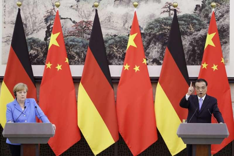 德國總理梅克爾與中國國務院總理李克強(AP)