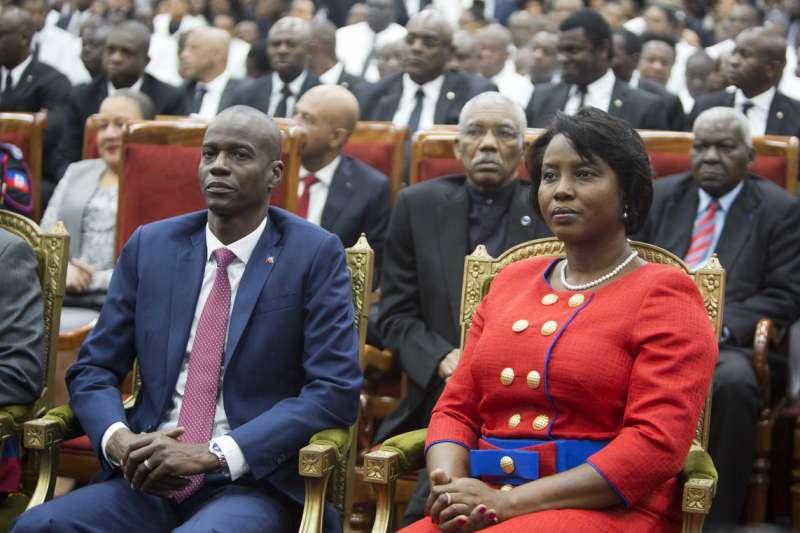 海地總統摩依士偕第一夫人瑪婷及政商人士共30人到台灣國是訪問(AP)