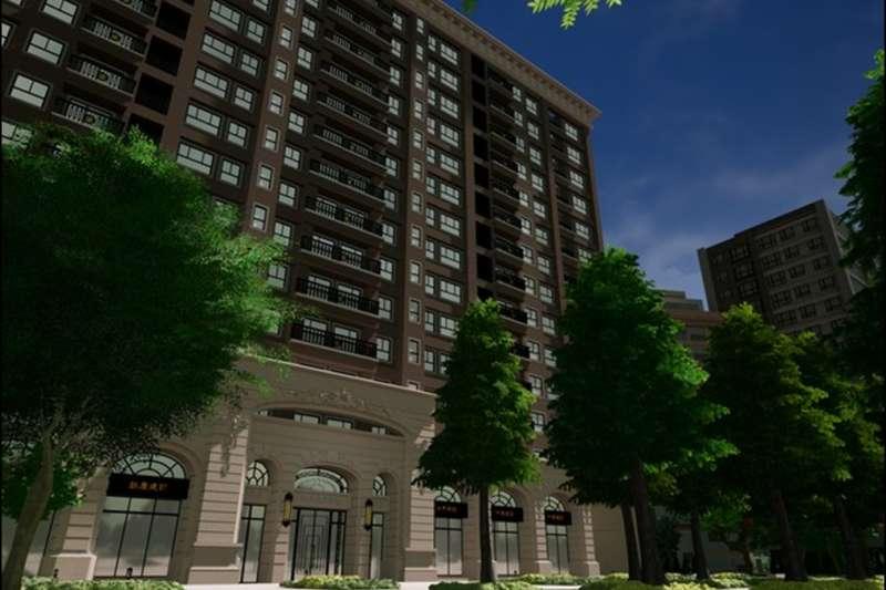 桃園青溪特區在重劃加值與綠廓活化兩大亮點加持下,業者推出在1579坪大面積基地上,規劃法式古典建築。(圖/鉅慶建設提供)