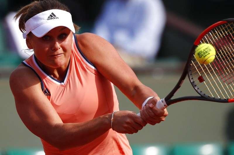 烏克蘭女將科斯洛娃(見圖)首戰爆冷淘汰去年法網冠軍奧斯塔朋科。(美聯社)