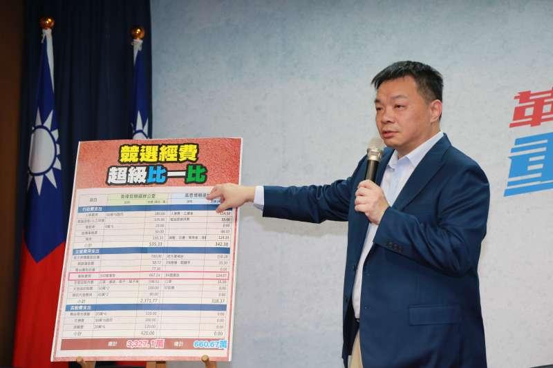 2018台南市長選舉》「看板數僅黃偉哲4分之1」 高思博公布競選經費駁指控-風傳媒