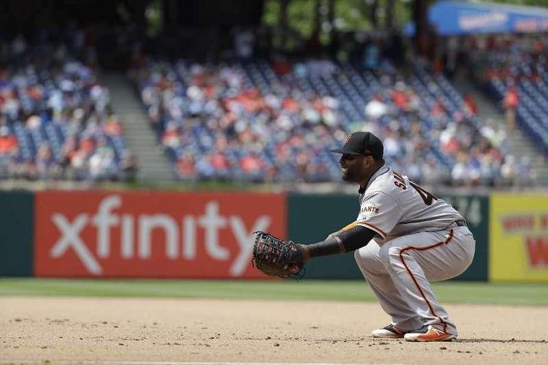 「功夫熊貓」今天打先發第六棒守二壘,是他生涯首度以先發二壘手的身分出賽。 (美聯社)