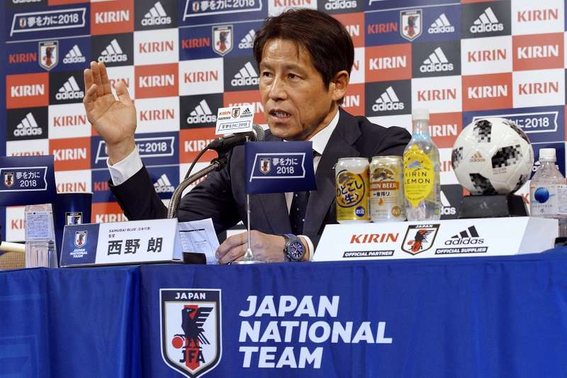 日本國家隊總教練西野朗。(美聯社)