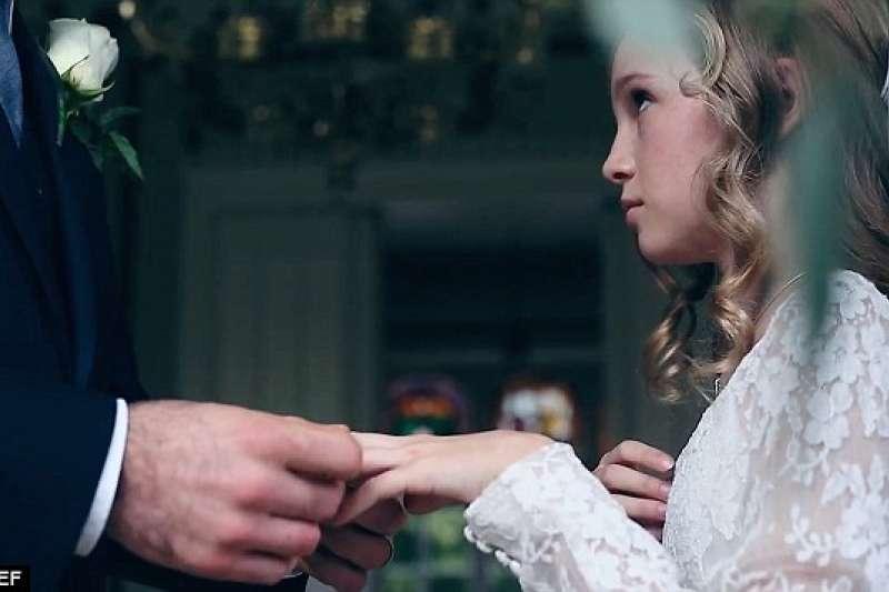 非當事人。英國也有童婚問題(取自UNICEF)