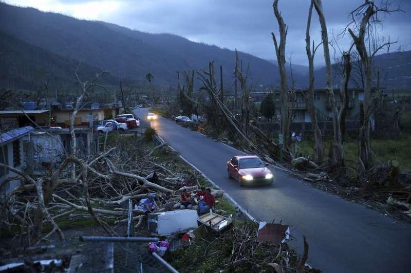 波多黎各去年9月遭受瑪莉亞颶風重創,由哈佛大學主導的最新報告估計,這場颶風恐造成至少4600人喪生。(美聯社)
