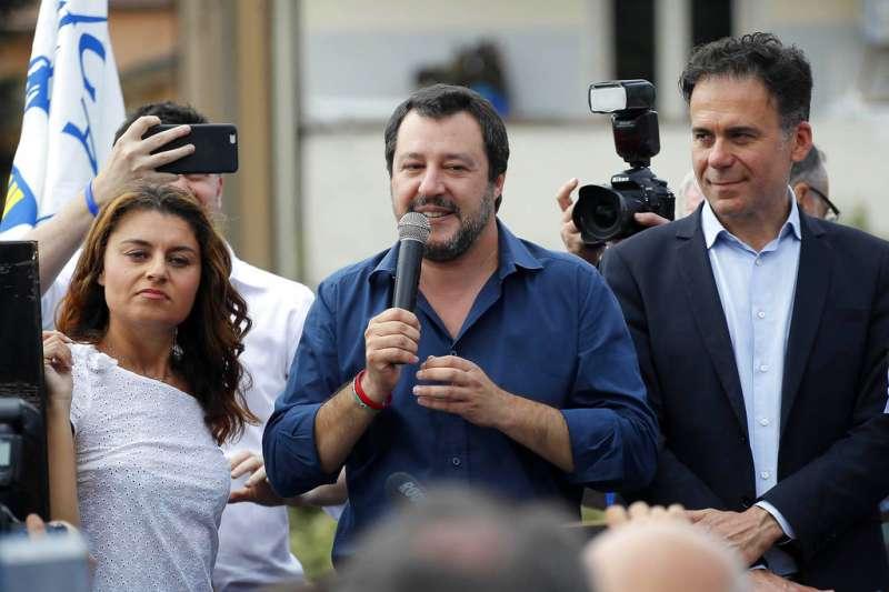 義大利「北方聯盟黨」黨魁薩爾維尼(Matteo Salvini)。(AP)