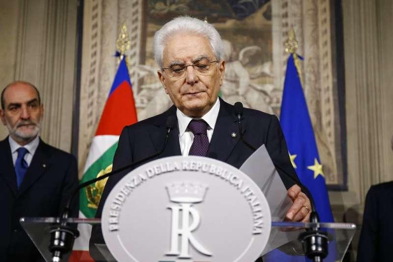 義大利總統馬塔雷拉。(AP)