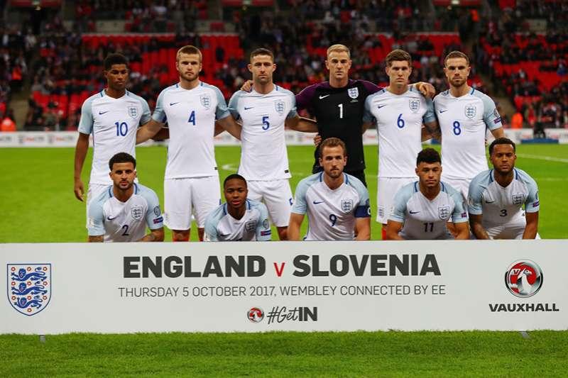 英格蘭國家隊今年公布名單,入選許多年輕球員,整體年輕化的陣容希望為英格蘭創造好成績。(美聯社)