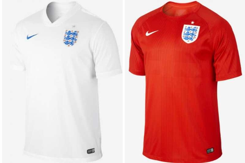英格蘭國家隊球衣有著招牌的紅色,還有最具特色的3獅子標誌。(圖截自NIKE)