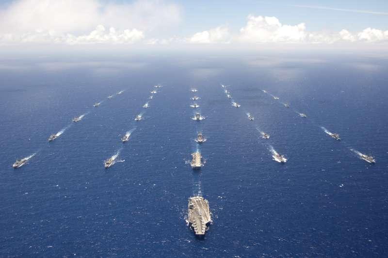 環太平洋軍演(RIMPAC)是世界上最大的國際海上演習。(美國海軍資料照)