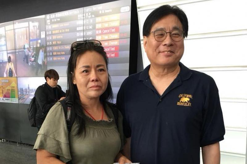 台灣關懷中國人權協會理事長楊憲宏與中國維權人士黃燕。(翻攝臉書)