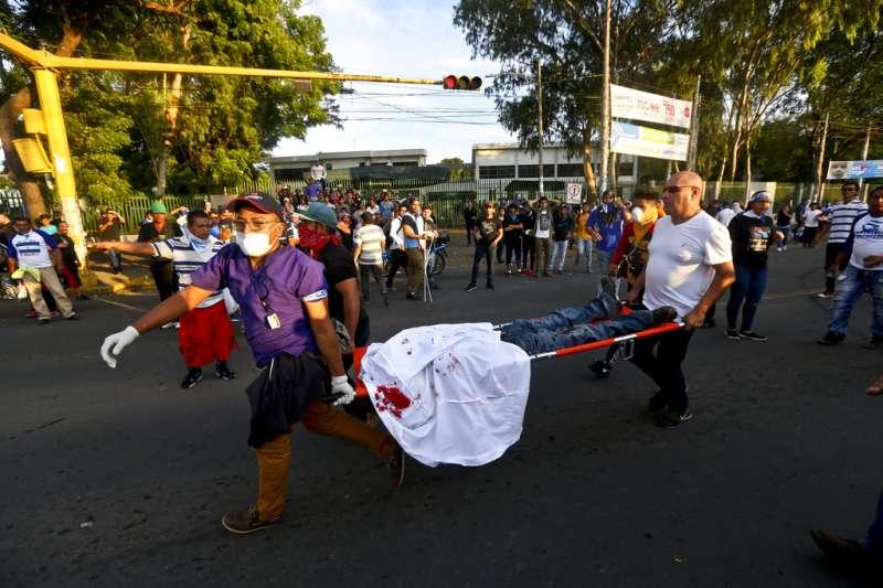 尼加拉瓜抗議,釀死傷。AP