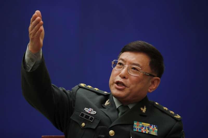 2018年「香格里拉談話」中國代表團團長、解放軍軍事科學院副院長何雷(AP)