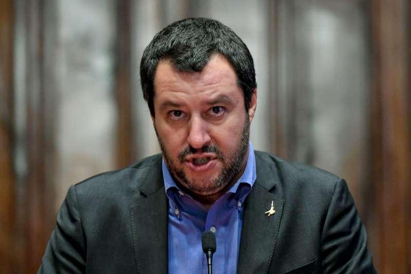 義大利極右派內政部長薩爾維尼(美聯社)