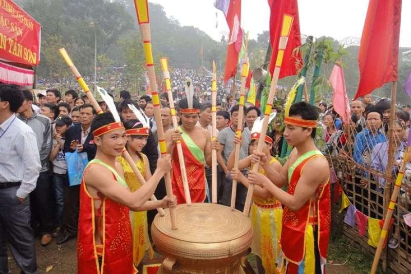 福壽省的雄王祭典活動之一。(圖/想想論壇)