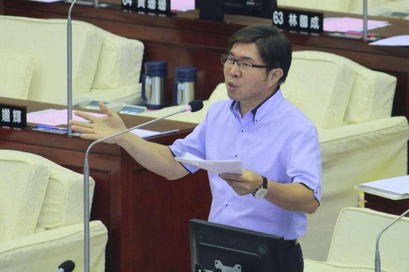 20180605-台北市議會5日進行總質詢。市議員張茂楠。(方炳超攝)