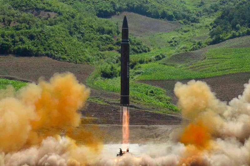 北韓「火星」系列洲際彈道飛彈(AP)