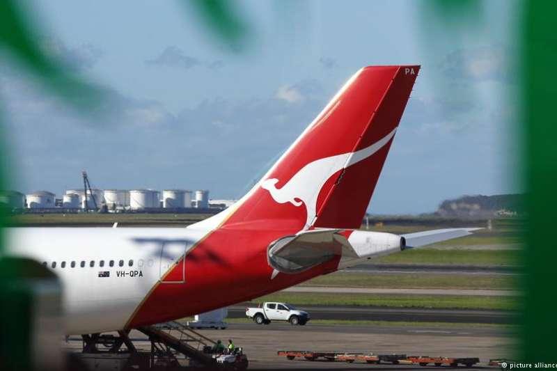 澳洲航空未更改台灣標注遭到中國警告後還是低頭。(BBC中文網)