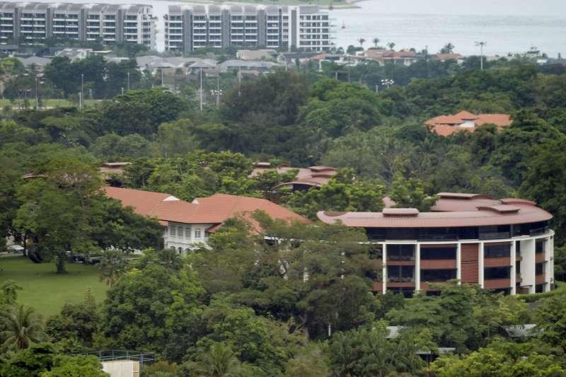 川金會地點,新加坡聖淘沙島嘉佩樂酒店(AP)