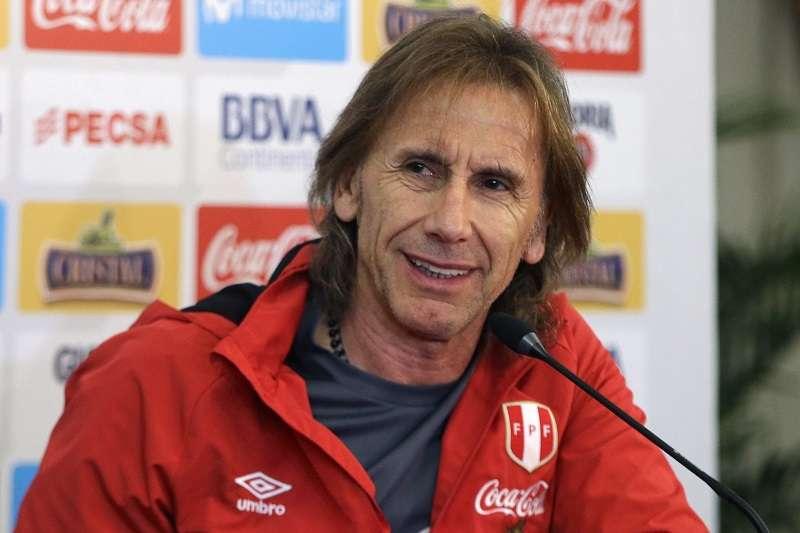 祕魯總教練加雷卡。 (美聯社)