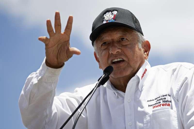 2018年墨西哥總統大選,左派候選人歐布拉多爾(López Obrador)(AP)