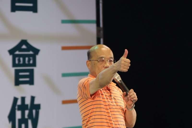 蘇貞昌表示,過去沒有選舉時也會出席活動,希望未來能當選並以市長的身分再來參加活動,現場也高喊「凍蒜」。(資料照,蘇貞昌辦公室提供)