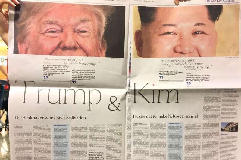 2018年6月,新加坡《海峽時報》的「川金會」特刊(李忠謙)
