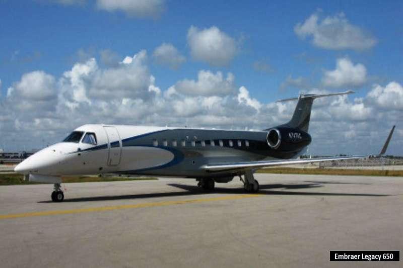 梅西的私人飛機,Embraer Legacy 650。 (截取至TOTAL SPORTEK網站)