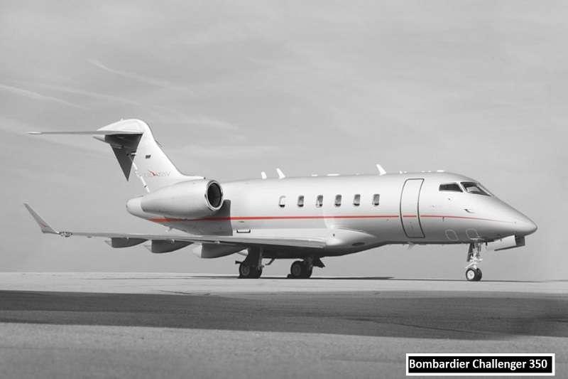 貝克漢的私人飛機,Bombardier Challenger 350。 (截取至TOTAL SPORTEK網站)