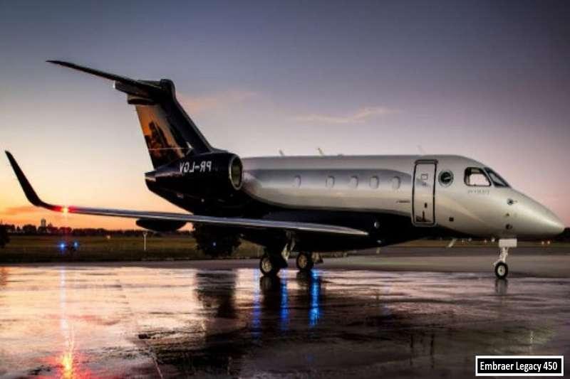 內馬爾的私人飛機,Embraer Legacy 450。 (截取至TOTAL SPORTEK網站)