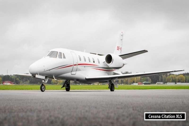 貝爾的私人飛機,Cessna Citation XLS。 (截取至TOTAL SPORTEK網站)
