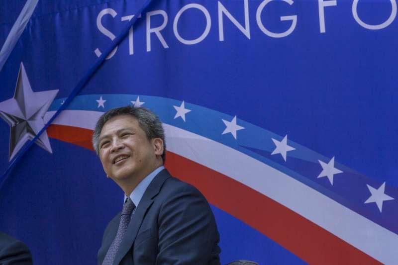 美國在台協會內湖新館落成啟用典禮。(取自flickr@總統府)