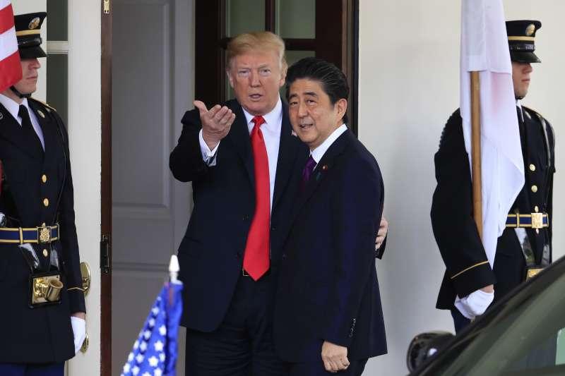 2018年6月,日本首相安倍晉三與美國總統川普(AP)