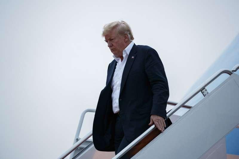 2018年6月13日,美國總統川普在「川金會」之後返國(AP)
