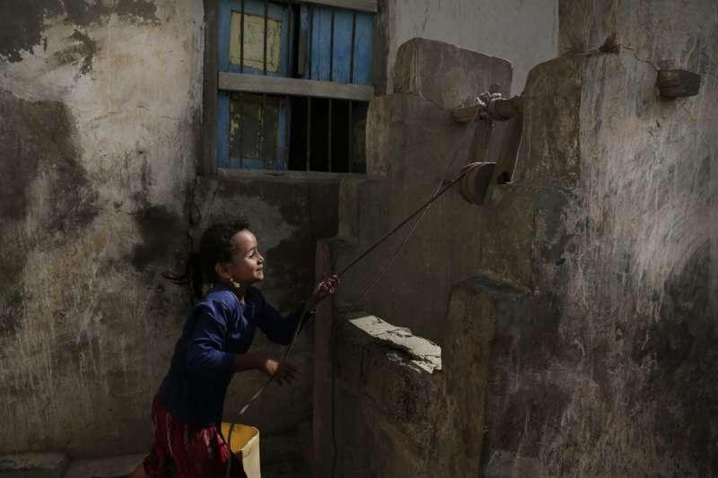 葉門荷台達的兒童。(AP)